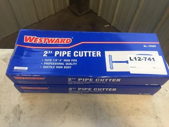 Westward 2 in. Pipe Cutters, Qty 2