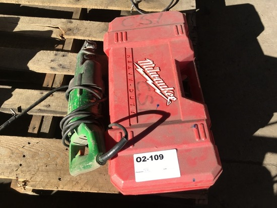 Milwaukee & Porter Cable Sawzalls, Qty 2