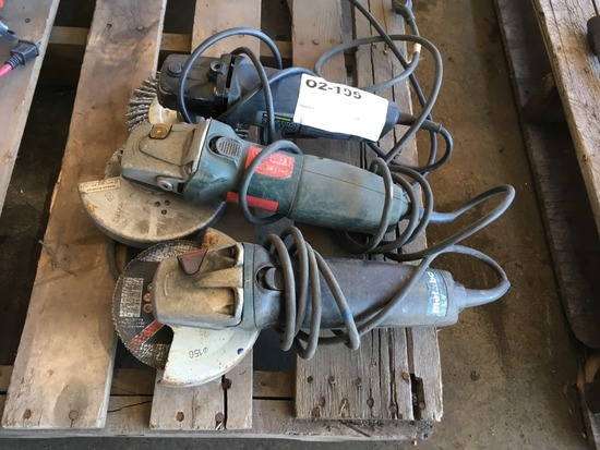 Metabo & Chicago Electric Angle Grinders