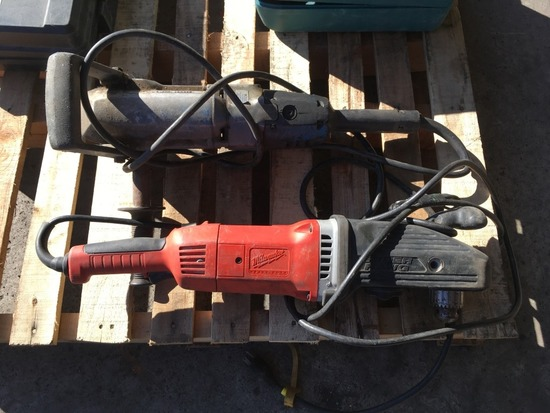 1/2in. Corded Angle Drills, Qty. 2