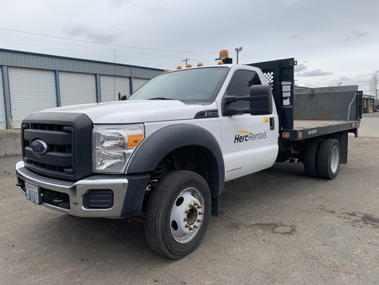 2013 Ford F450 XL SD Flatbed Truck