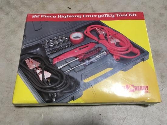 22 pc. Highway Emergency Tool Kit