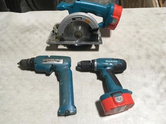Makita Cordless Drills & Circular Saw