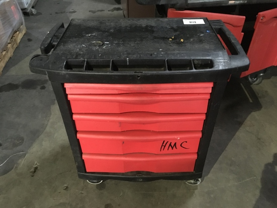Rubbermaid 5-Drawer Rolling Tool Cart