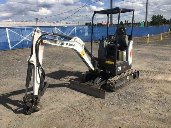 2016 Bobcat E20 Mini Hydraulic Excavator