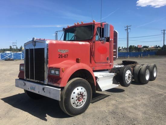 1986 Kenworth F900B Tri-Axle Truck Tractor