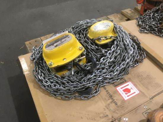 Oz Lifting Chain Hoists, Qty. 2