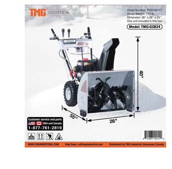 2021 TMG GSB24 Snow Blower