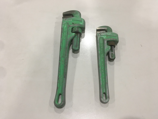 Ridgid Aluminum Pipe Wrenches, Qty. 2