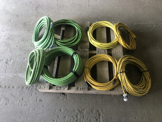 Heavy Duty Extensions Cords Qty 8