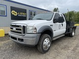2005 Ford F450 XL SD Extra Cab Flatbed Truck