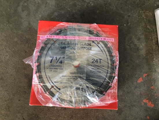 "2021 7 1/4"" Carbide Saw Blades, Qty. 10"