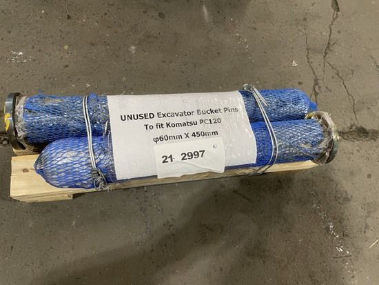 2021 Excavator Bucket Pins, Qty 2