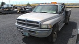 1999 Dodge 3500 SLT 4x4 Extra Cab Flatbed Truck