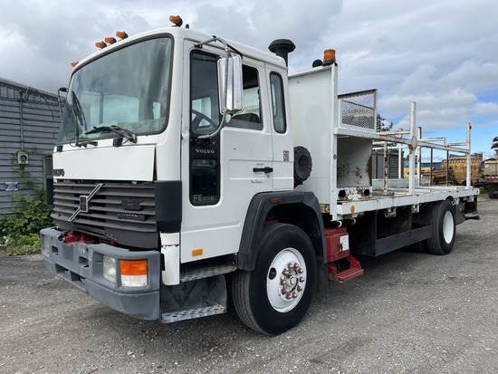1993 Volvo FE S/A Flatbed Truck