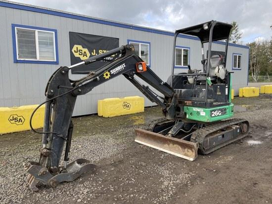 2015 John Deere 26G Mini Hydraulic Excavator