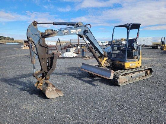 2005 John Deere 50D Mini Hydraulic Excavator