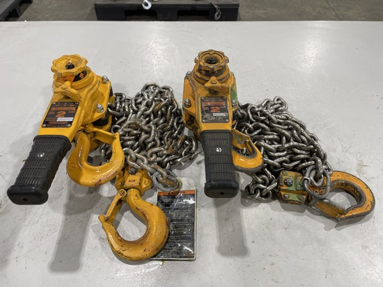 2-Ton Lever Chain Hoist, Qty. 2