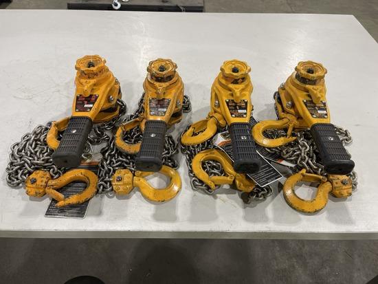 1-Ton Lever Chain Hoist, Qty. 4