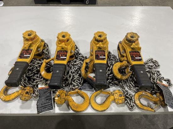 1.5-Ton Lever Chain Hoist, Qty. 4