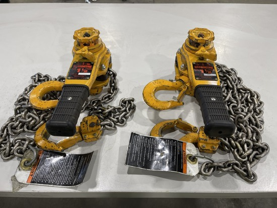 1.5-Ton Lever Chain Hoist, Qty. 2