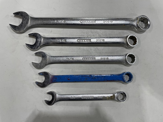 Allen Combo Wrenches, Qty. 5