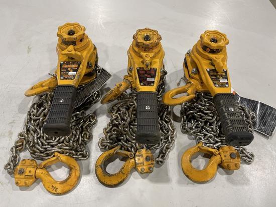 3/4-Ton Lever Chain Hoist, Qty. 3