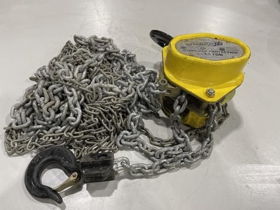 1.5 Ton Chain Hoist Overload Protection