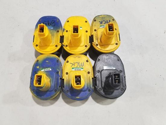 DeWalt 14.4V Batteries, Qty. 6