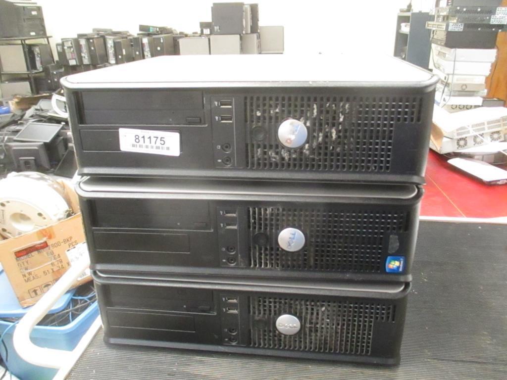 (3) Dell OptiPlex 780 Desktop Computers