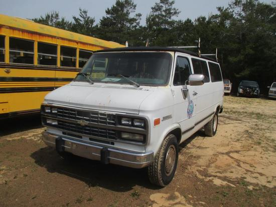 1992, Chevrolet, Sport, Van,