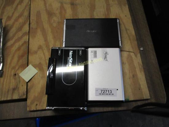 (3) External Hard Drive Cases.