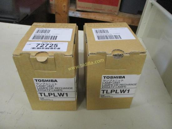(2) Toshiba TLPLW1 Replacement Lamps.