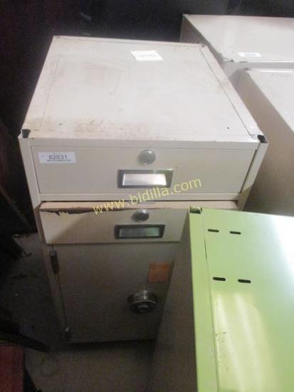 Diebold 2 Drawer 1 Door Cabinet