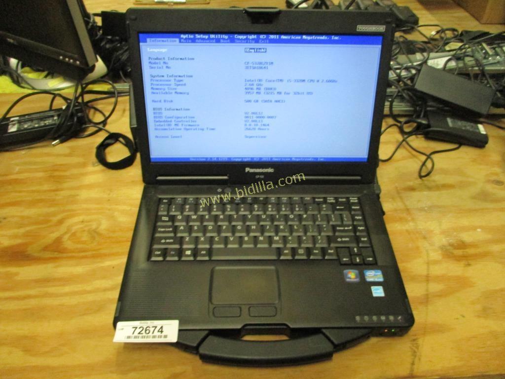 Panasonic Toughbook CF-53 Laptop Computer.