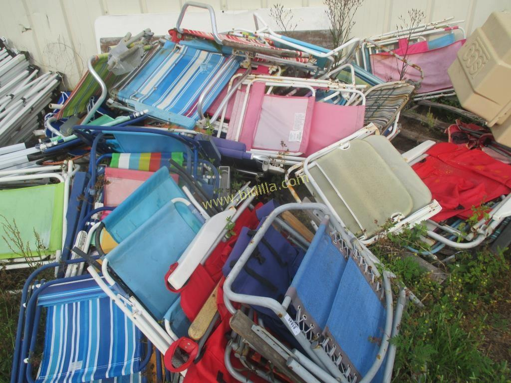 Lot of Beach Chairs and Toys