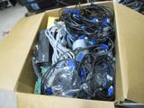 Asst Computer Parts, Cords, & Cables.
