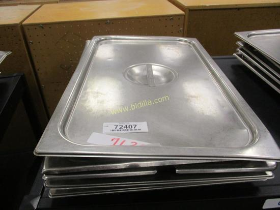 (5) Stainless Steel Steam Table Pan Lids.
