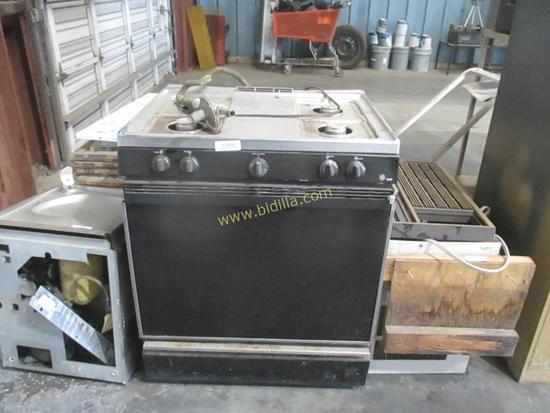 GE XL4 4 Burner Gas Oven