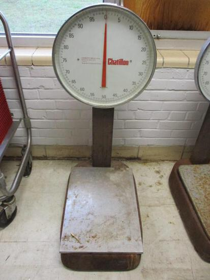 Chatillon 100lb Floor Scale BP15-100T Type 15.