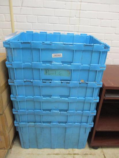 (6) Plastic Shipping Bins.
