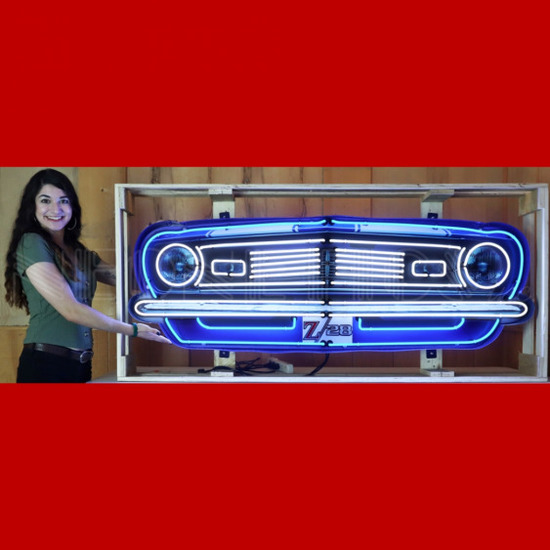 """Z28 Grill NEON SIGN IN STEEL CAN--60""""w x 30""""h x 6""""d"""