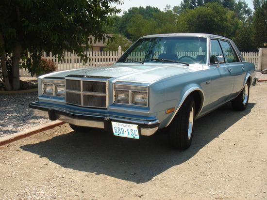 1985 Dodge Diplomat 4 Door Sedan