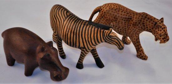 Cheetah, Zebra, Hippo, Made in Republic of south Afrika