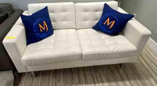 White Leather Sofa                                                     R1