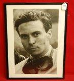 Jim Clark Framed Black & White at Spa 1960