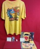 Ernie Irvan Lot: T-Shirt, Autographed Card & Calendar