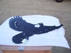 "Unused 32"" Metal Eagle Wall Hanging."