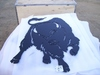"Unused 32"" Metal Buffalo Wall Hanging."