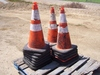 Lot of Construction Cones.